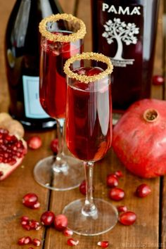 This Cranberry Pomegranate Champagne Cocktail is the perfect holiday drink! You are only three ingredients away from the best holiday drink!