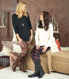 Women's Printed Fleece-Lined Leggings