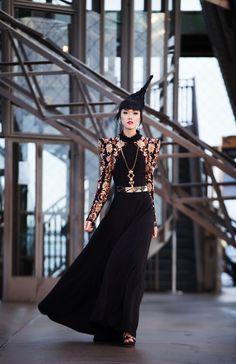 #shilpareddystudio #fashion #malkha #indian #parisian #eiffeltower #fashionshow #jessicaminhanh #autumn/winter #dress #paris #shilpareddy