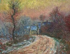 Claude Oscar Monet Entrance to Giverny in the Winter Sun