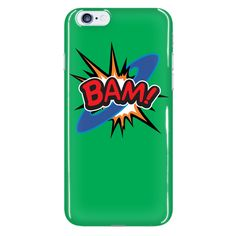 BAM! iPhone 6 plus cell phone case (Green)