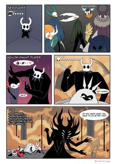 Video Games Funny, Funny Games, Comic Manga, Anime Manga, Care Bear Party, Hollow Night, Hollow Art, Knight Art, Skullgirls