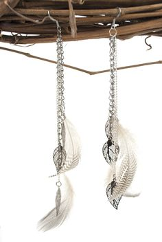 Feather Earrings #diyjewelry