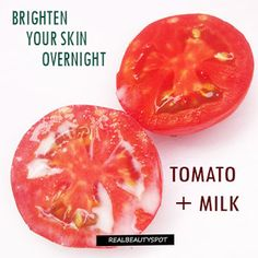 Overnight Tomato Mask – Tomato contains fruit acid while raw milk contains lactic acid so this...