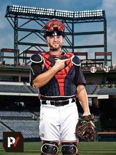 Atlanta Braves catcher #16 Brian McCann (by Atlanta sports/commercial photographer Pouya Dianat)