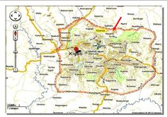 Kigali street map :: Pool apartments for rent in Kigali