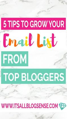 Learn how to grow your email list with 5 tips you can use before and after you start blogging. Use these tips to grow your list from the start.