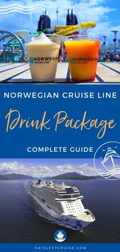Complete Guide to Norwegian Cruise Line Drink Packages (2021) - Our Complete Guide to Norwegian Cruise Line Drink Packages (2021) covers all the plans and pricing to help you decide if they are worth it. #cruise #cruiseplanning #cruisedrinks #eatsleepcruise Cruise Tips, Cruise Vacation, Norwegian Cruise Line, Beverage Packaging, Alaska Cruise, Royal Caribbean, Packing Tips, How To Plan, Drinks