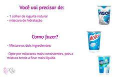 Hidratação caseira com iogurte natural (amido de milho) - cronograma capilar