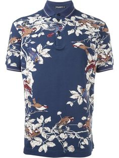 Shop Dolce & Gabbana bird print polo shirt in Italiani from the world's best independent boutiques at farfetch.com. Shop 400 boutiques at one address.