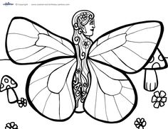 fairy house coloring page twisty noodle woodland fairy pinterest fairy houses kids. Black Bedroom Furniture Sets. Home Design Ideas