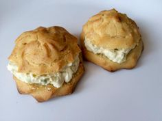 Receta de Profiteroles salados rellenos de queso