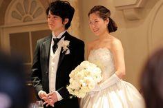 お客様の結婚式当日の花嫁姿
