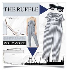 """""""Life is Ruffle ~Polyvore"""" by meleuterio ❤ liked on Polyvore featuring Barneys New York, GUESS, My Delicious, MANGO and ruffles"""