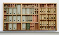 Might want to fill an empty letterpress drawer with small collectibles. Letterpress Drawer, Letterpress Printing, Typography, Lettering, Vintage Type, Printing Press, Stationery Paper, World Best Photos, Bookbinding