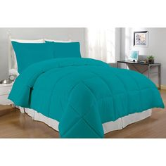 Microfiber Down Alternative 3-piece Comforter Set | Overstock.com Shopping - The Best Deals on Comforter Sets