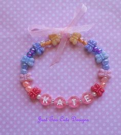 Baby  Butterfly Love Bracelet Personalized by Justtoocutedesigns, $4.25