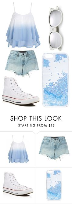 """Untitled #127"" by victoria1221 ❤ liked on Polyvore featuring T By Alexander Wang, Converse, Skinnydip and Yves Saint Laurent"