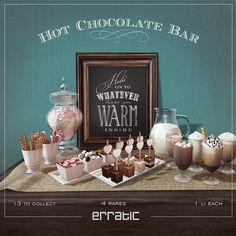 erratic / Hot Chocolate Bar for THE ARCADE