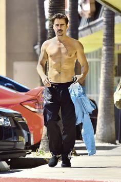 Colin Farrell Shirtless In Hollywood | Radar Online