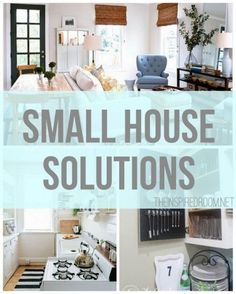 Small houses can be charming, but there are definitely challenges to working with a tight space. Here are five common small house woes, and a few solutions for each!