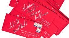envelope calligraphy by Plurabelle Calligraphy + Design Studio