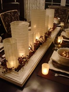 Inspirational Holiday Table Setting Centerpiece Ideas