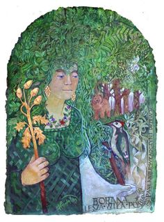 Lesz Borana Wiła.  Mrs. Knieji, Mistress of Trees. Babysitter Knieji - especially deciduous and all kinds of trees, or large vegetable inhabitants of forests.