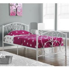 White Metal Twin Size Bed Frame Only - Walmart.com