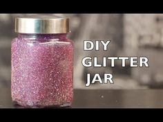 DIY glitter jars would make great easy to make Little Charmers party favors. Soo pretty!