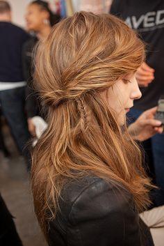 Aveda at Rodarte Fall 2011                                              #hairstyles #hair