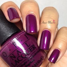 This gorgeous shimmery plum polish from the OPI Starlight Collection will totally make your nails pop. Check out the rest of the essentials to DIY here. Fancy Nails, Cute Nails, Pretty Nails, Fabulous Nails, Gorgeous Nails, Opi Nail Colors, Manicure Y Pedicure, Purple Nails, Plum Nails