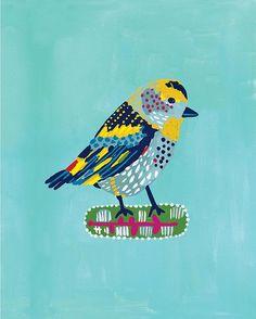PRINTS :: Blue Bird print - Ecojot - eco savvy paper products