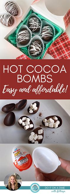 $1 DIY HOT COCOA BOMBS 🍫 made without a silicone mold! ❤️