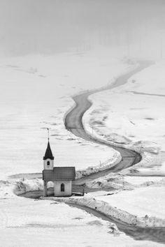 vvv Pilgrimage in winter by Anton Tratnik