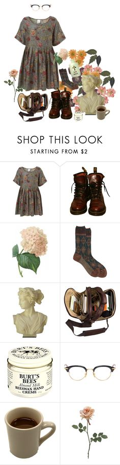 """Raspberry Tea and Lemon Cakes"" by owlenstar on Polyvore featuring Topshop, Dr. Martens, Antipast, Burt's Bees and Thom Browne"