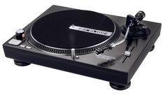 RELOOP Platine vinyle spéciale lecture de vinyle pour utilisation Hi-fi ou DJs. Entraînement par courroie , très belle finition noire alu brossé. Cellule OM Black fournie !