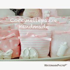 COCCINELLEPAZZE Handmade: Sacchetti fai da te con gessetti un orso per il padrino per il battesimo di Linda