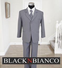 Black N Bianco - Boys Suit in Dolphin Gray Dresswear, $21.99 (http://www.blacknbianco.com/boys-suit-in-dolphin-gray-dresswear/)