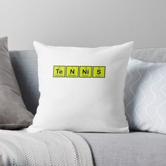 Periodic Elements, Tennis Gifts, Tennis Players, Periodic Table, Science, Throw Pillows, Periodic Table Chart, Toss Pillows, Cushions