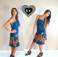 vtg 80s teal LEOPARD PRINT jaguar Sun DRESS by TigerlilyFrocks, $39.00