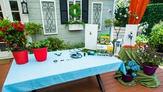 Shirley Bovshow is showing you how to care for your plants while out of town. Home And Family Crafts, Home And Family Hallmark, Ti Plant, Self Watering Planter, Indoor Outdoor, Outdoor Decor, Outdoor Ideas, Family Show, Patio Plants