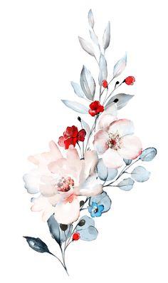 Loose Floral watercolor process video by Leah Bisch Studio watercolor art Realistic Flower Drawing, Cute Flower Drawing, Easy Flower Drawings, Drawing Flowers, Floral Drawing, Art Flowers, Art Painting Flowers, Vintage Flowers, Beautiful Flower Drawings