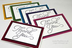 Stampin' Up! Demonstrator Pootles - A Regal Collection of Embossed So Very Much. Lovely, simple Thank You cards. Click through for more details.