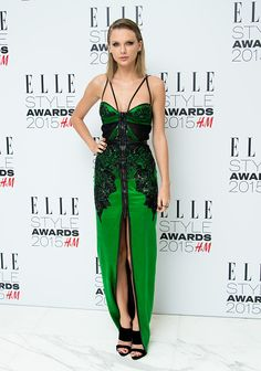 Taylor Swift in Julien Macdonald at the ELLE Style Awards 2015 in London. See all of the singer's best looks.