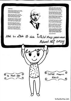İstiklâl marşı Mars, Martini, Preschool, Education, Comics, Fictional Characters, Frida Kahlo, Silk, Preschools