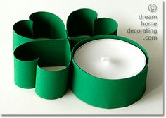 St Patricks Day tealight decoration