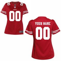 1639d1c021bde Women Nike San Francisco 49ers Customized Game Team color jersey Nfl Womens  Jersey