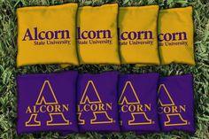 Cornhole Bag Logo Set - Alcorn State University Braves 25752