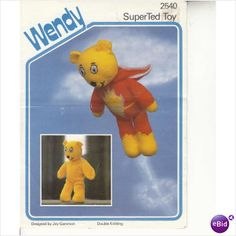 2540 Wendy Pattern for Knitted SuperTed Toy Super Ted by Joy Gammon on eBid United Kingdom